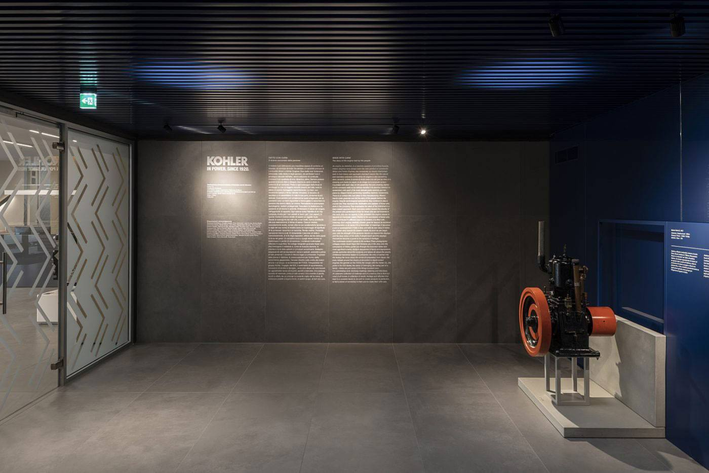 Gallery of Engines – Kohler Engines | <strong>GALLERY OF ENGINES – KOHLER ENGINES</strong> | luogo <strong>Reggio Emilia, Italia</strong> | progetto <strong>Arch. Naomi Hasuike</strong> | ph © <strong>Paolo Carlini</strong>